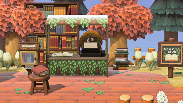 Bookshop Idea for Animal Crossing: New Horizons