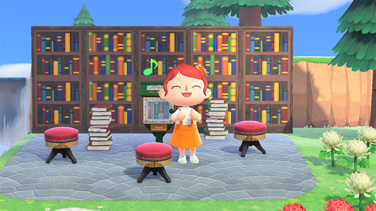 Small Library Idea for Animal Crossing: New Horizons