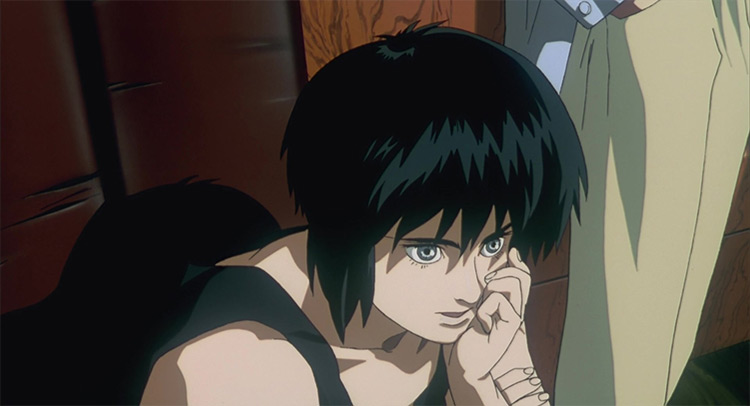 Motoko Kusanagi in Ghost in the Shell