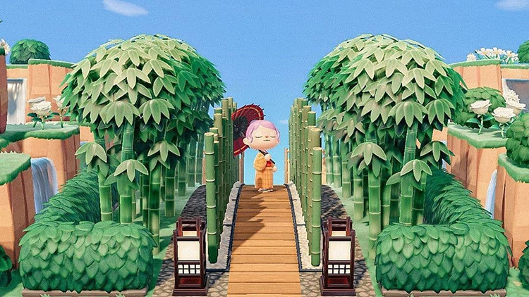 Bamboo Pathway Idea for ACNH
