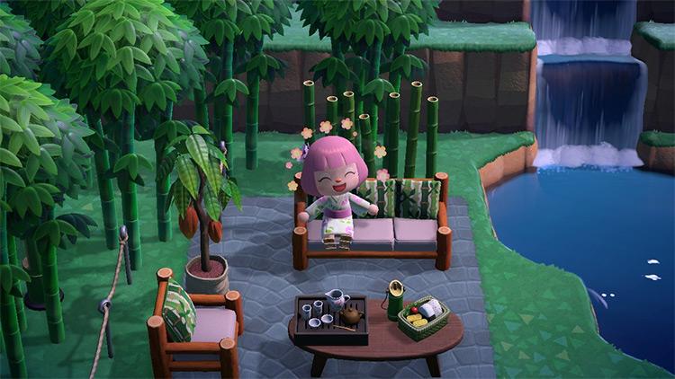 Bamboo Patio Idea for ACNH