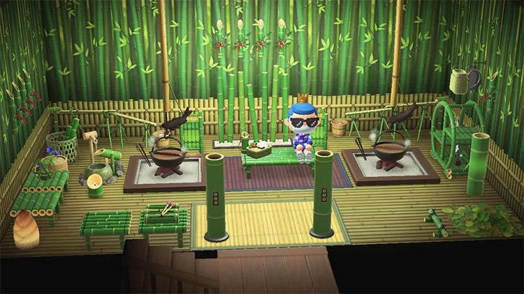 Bamboo Room Interior - ACNH Idea
