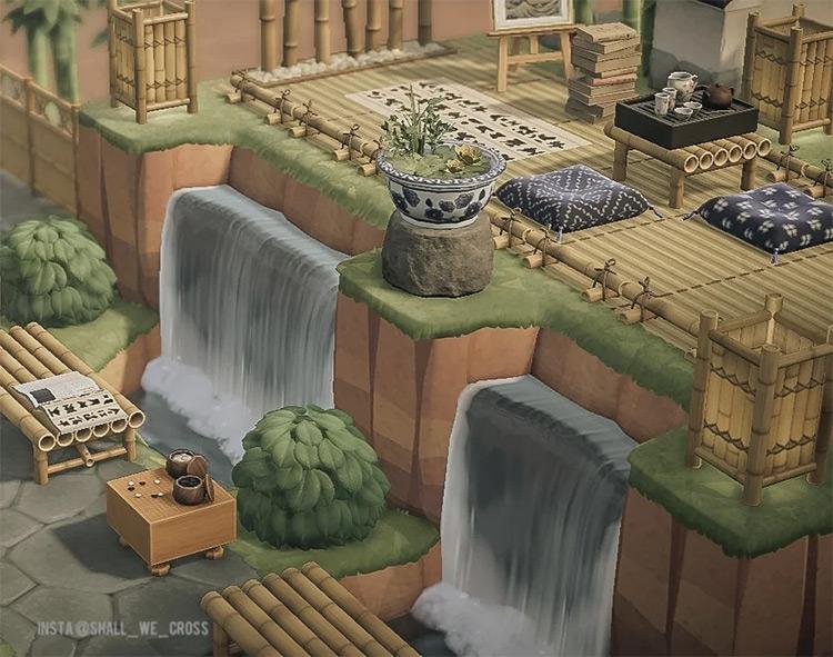 Zen Deck with Bamboo - ACNH Idea