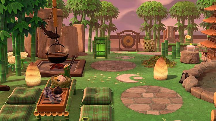 Bamboo Tea Spot Idea for ACNH