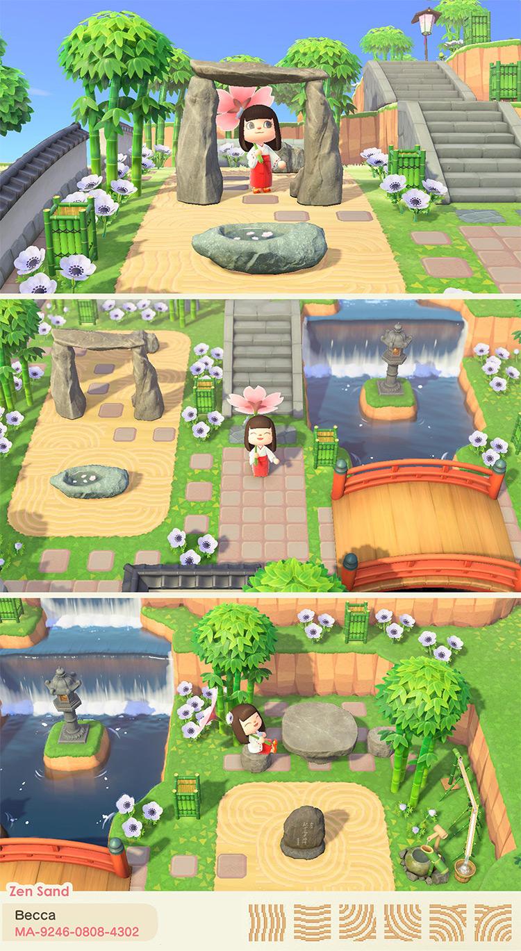 Zen Sand Garden Idea for ACNH