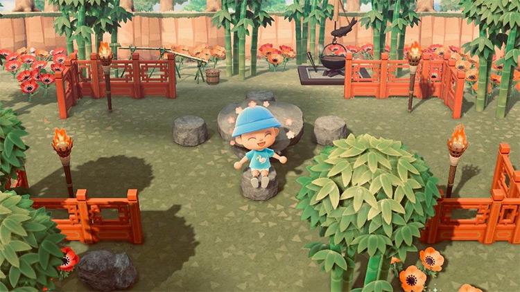 Japanese Bamboo Park - ACNH Idea