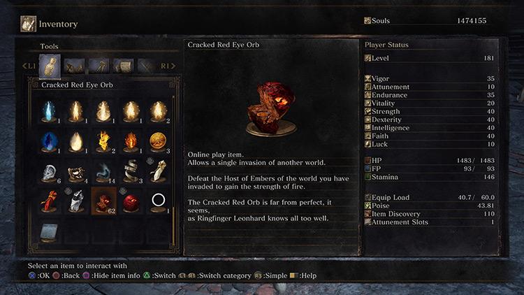 Cracked Red Eye Orb Dark Souls 3