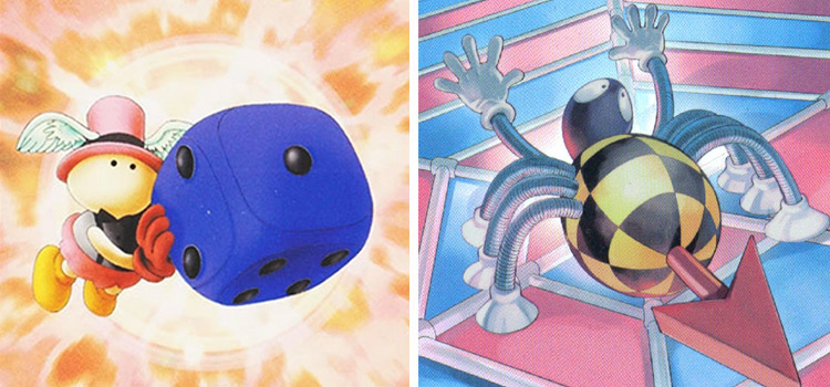 YGO Dice Cards - Roulette Spider and Graceful Dice
