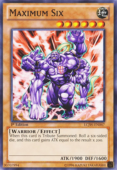Maximum Six YGO Card