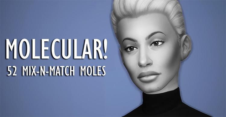 Molecular Moles CC for The Sims 4