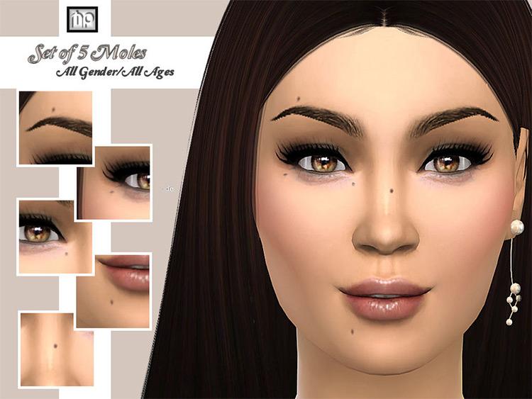 Set of 5 moles N1 CC - Sims 4