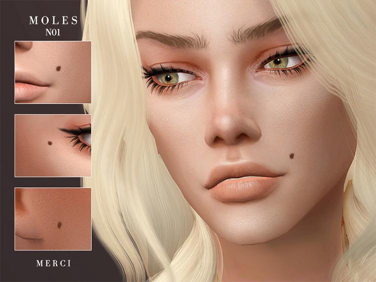 Moles N01 CC Set for Sims 4