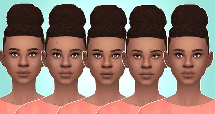 Freckles and Moles v1 pack for TS4