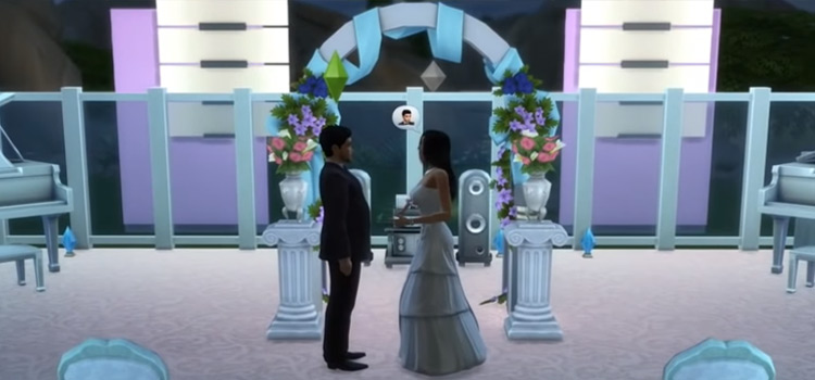TS4 Wedding with Arch