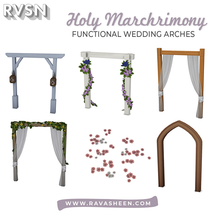Holy Marchrimony Wedding Arches - Sims 4 CC