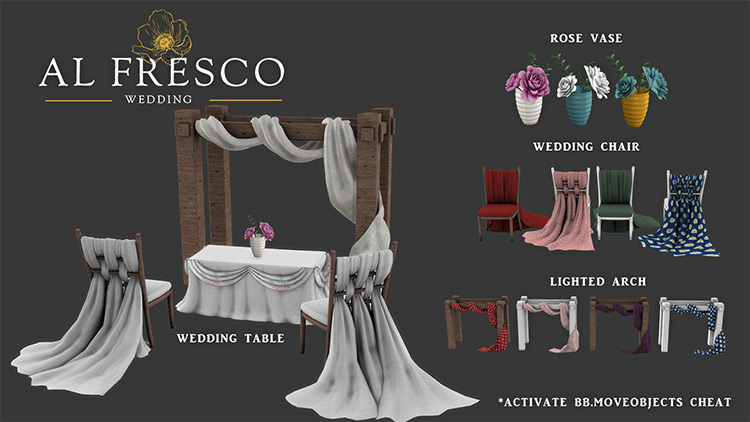 Alfresco Wedding CC Set - TS4