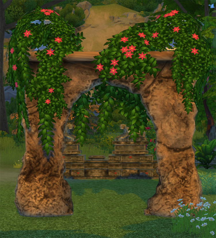 Fractured Wall Wedding Arch - TS4 CC