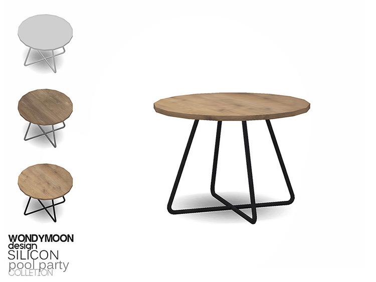 Round Designed End Table CC - Sims 4