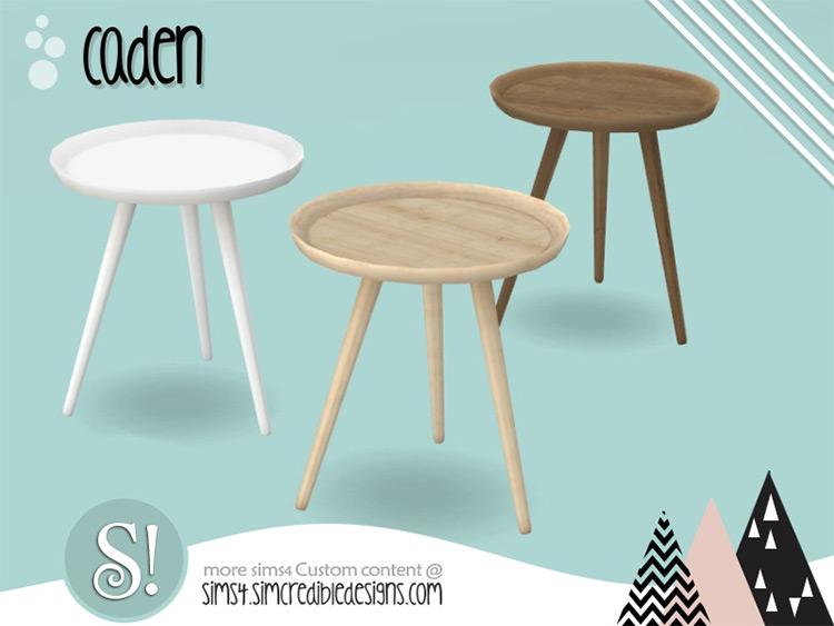 Caden End table Design - Sims 4 CC