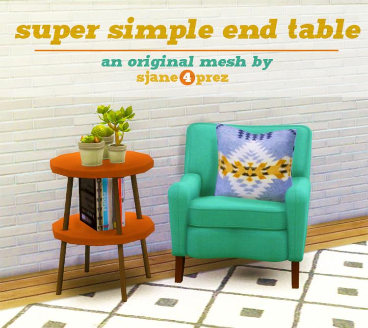 Super Simple End Table - Sims 4 CC