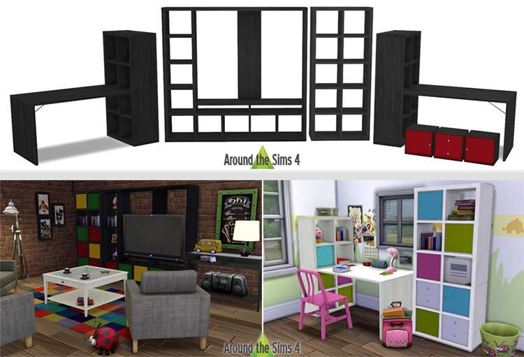 IKEA Expedit CC for The Sims 4