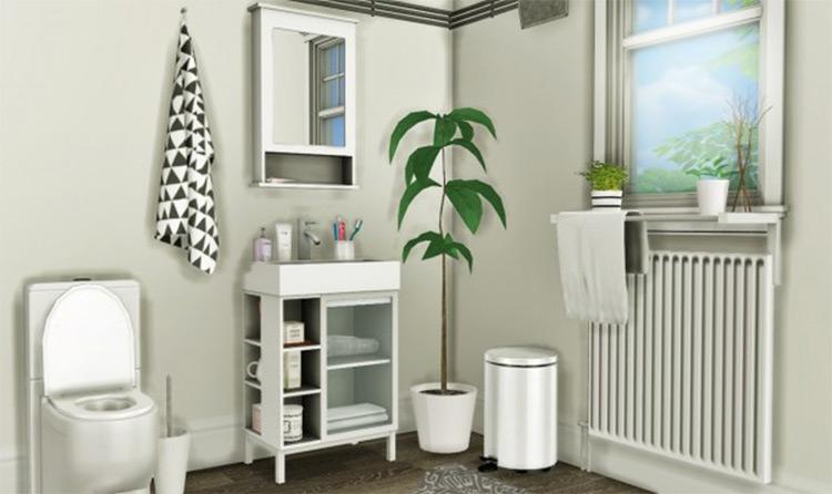 IKEA LILLÅNGEN Bathroom CC Set for Sims 4