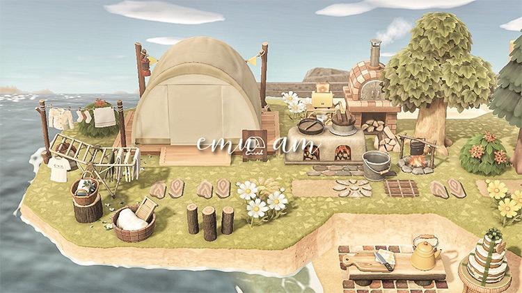 Beach Campsite Idea in ACNH