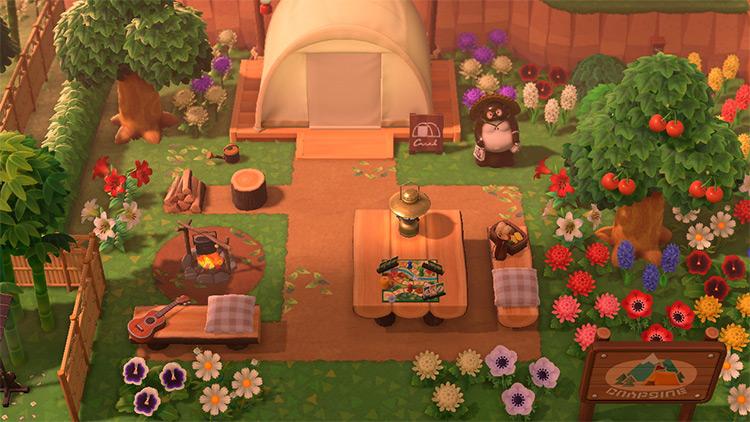 Homey Campsite at Sundown - ACNH Idea