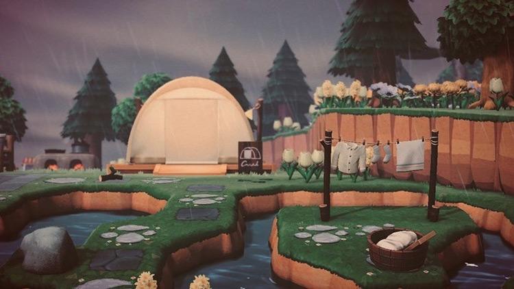 Calming Rainy Campsite - ACNH