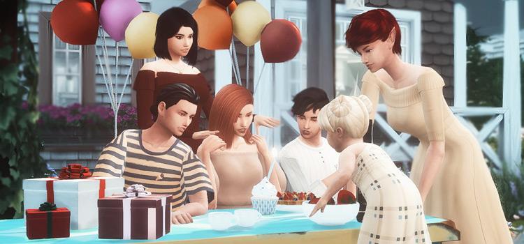 Happy Birthday Posepack for TS4