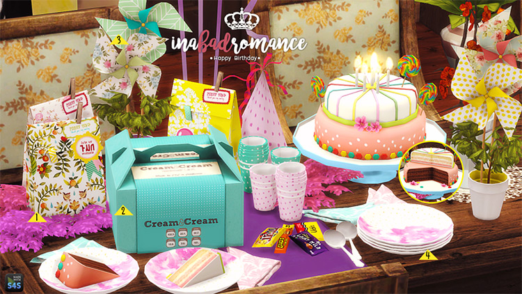 Happy Birthday Miniset TS4 CC