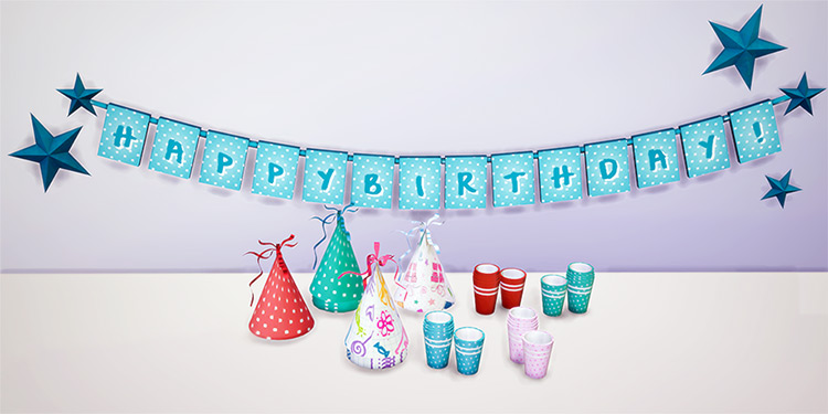 Birthday Party Decor for Sims 4