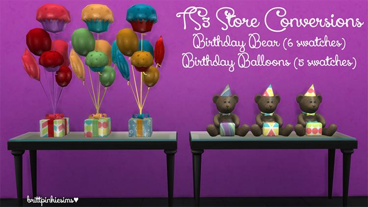 Birthday Party Set Sims 4 CC