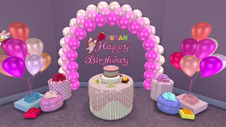 Happy Birthday Themed Decals Sims 4 CC