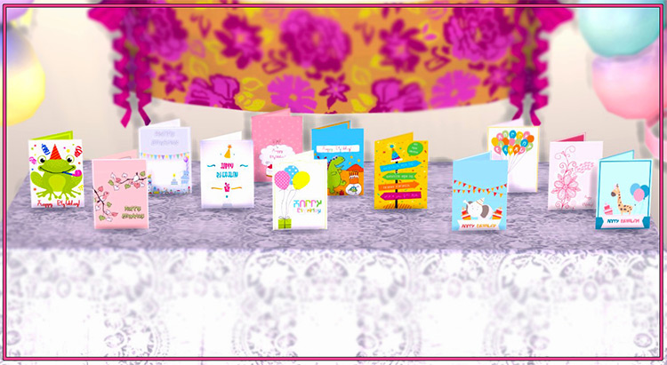 Birthday Cards for Sims 4