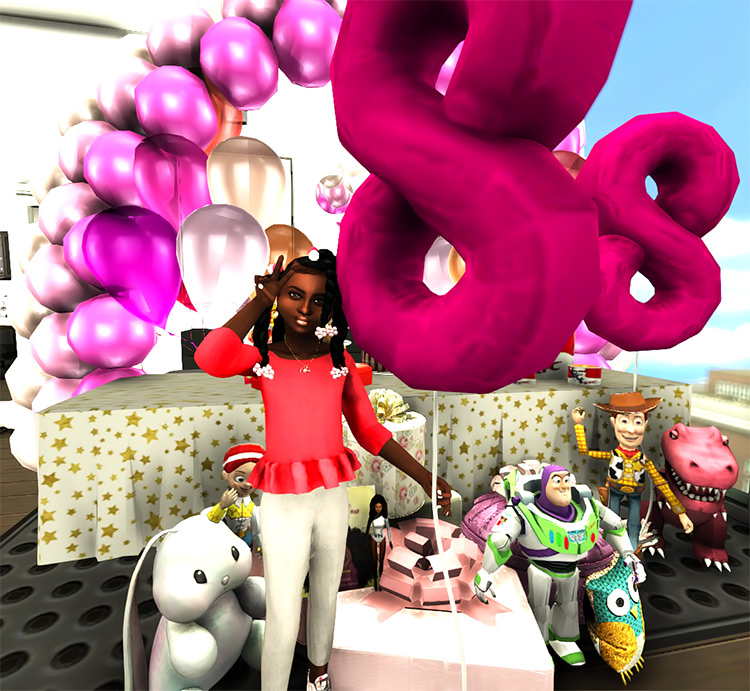 Birthday Number Balloons Sims 4 CC