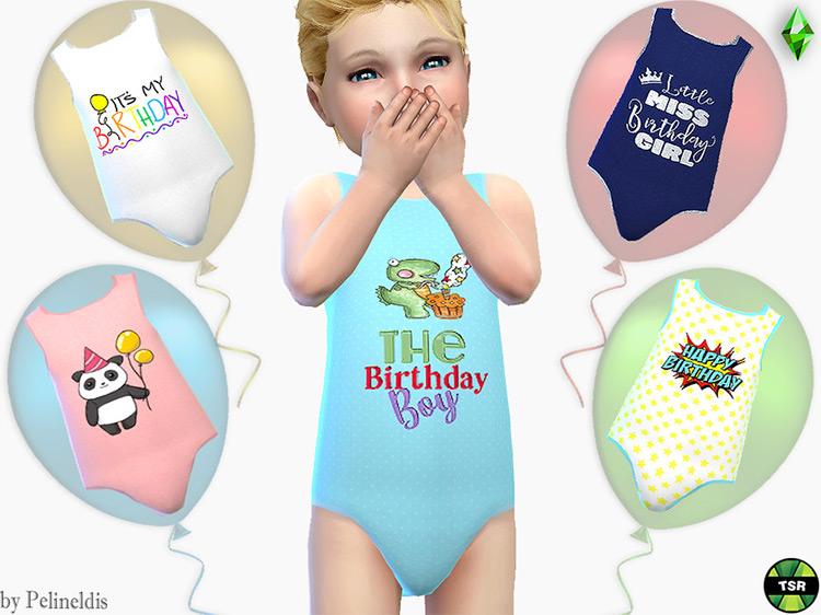 Toddler Birthday Bodyvest Sims 4 CC