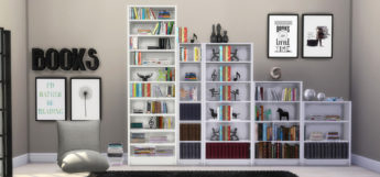 IKEA Billy Bookcases Example CC - TS4