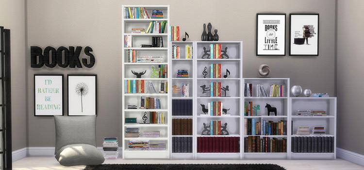 IKEA Billy Bookcases Example CC - TS4