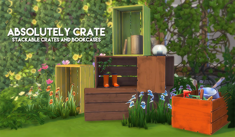 Absolutely Crate Bookshelves TS4 CC