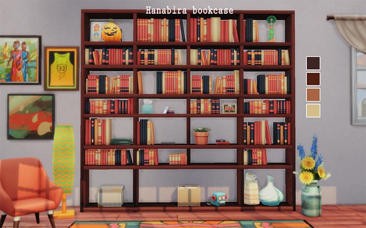 Hanabira Bookcase Sims 4 CC