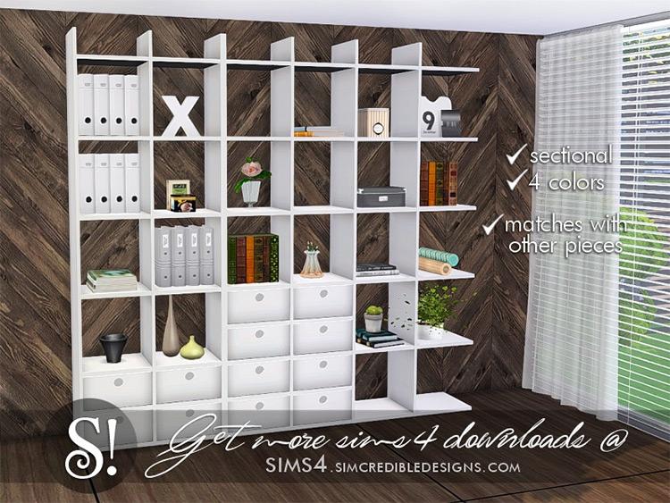 Solatium Bookcase 2 for Sims 4
