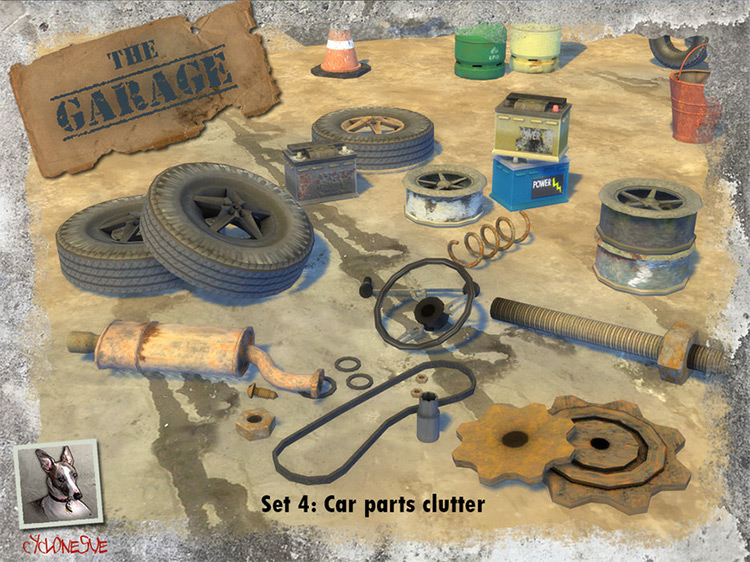 Car Parts Clutter for Sims 4