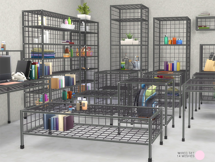 Wire Shelves Sims 4 CC