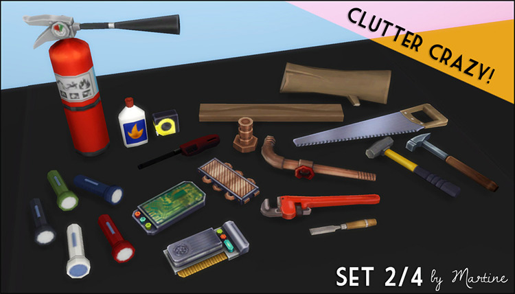 Tools Clutter Sims 4 CC