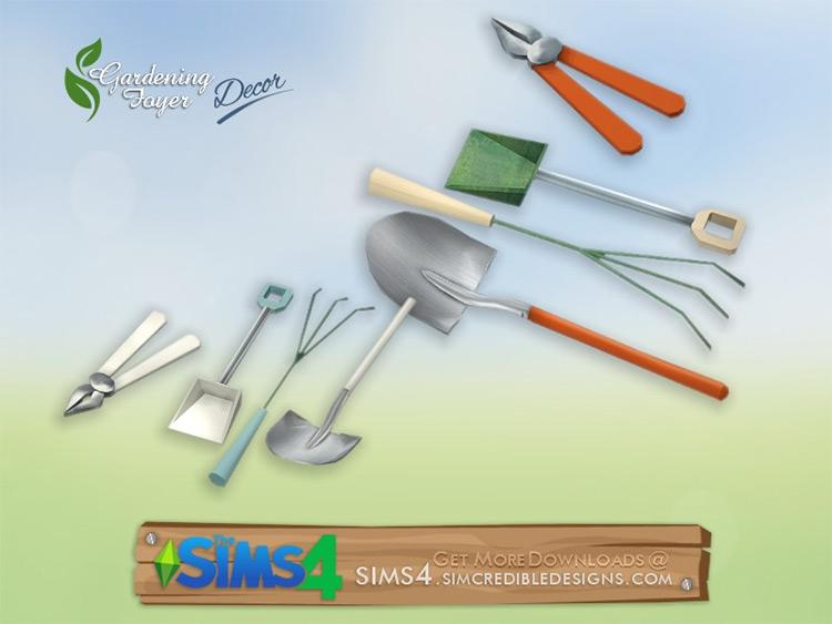 Gardening Decor Sims 4 CC