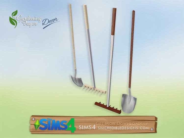 Rake and Shovel Decor for Sims 4