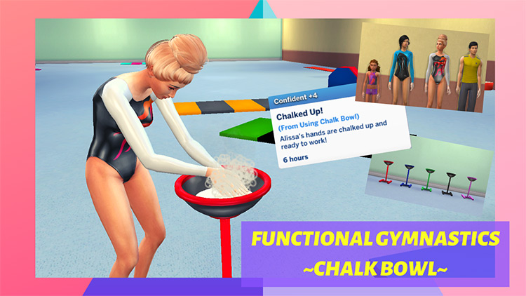 Gymnastics Chalk Bowl for Sims 4