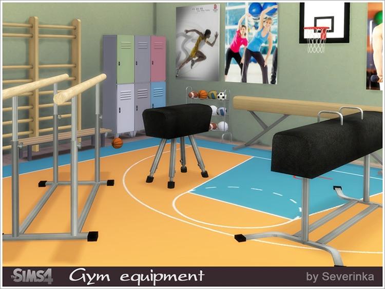 Gym Equipment CC Set Sims 4 CC