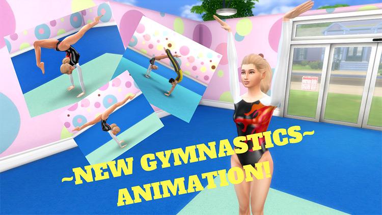 Gymnastics Animations Pack Sims 4 CC